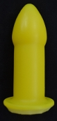 RTDL 1.375  Medium Rectal Training  Enema Nozzle YELLOW OPEN RTS