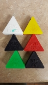 Sample Silicone Triangles for Softness / Firmness Evaluation